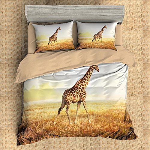 gorgeous giraffe print duvet cover set