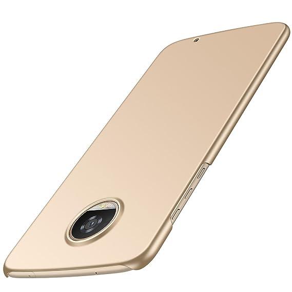 6e7646cede6 Funda Moto Z2 Play w/[Moto Z2 Play Screen Protector ], Almiao Funda  protectora de teléfono delgada minimalista Protector para Moto Z2 Play 5.5  pulgadas (Oro ...
