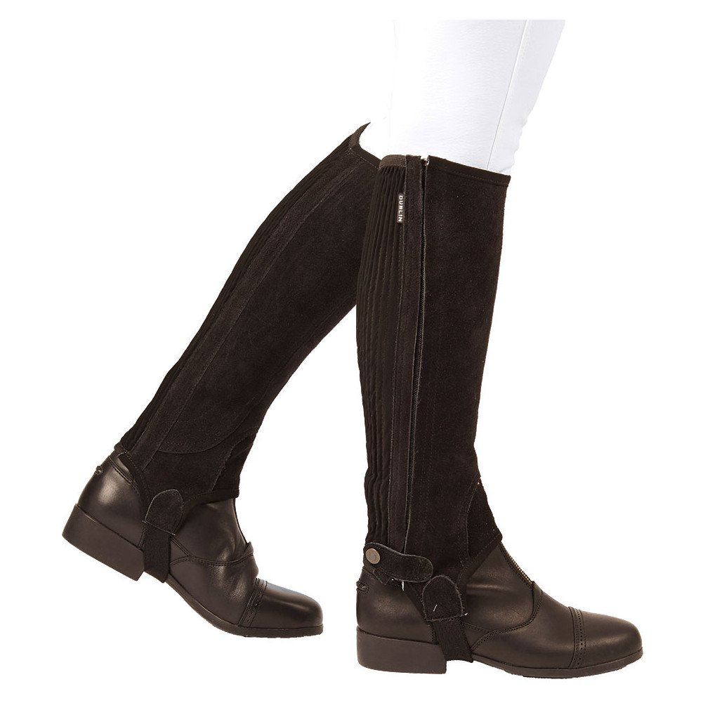 Dublin Adult Suede II Half Chaps X-Large Brown