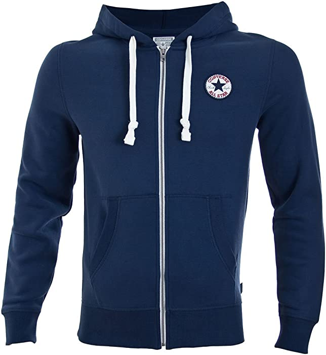 1e99cfb4d464 Converse Chuck Patch Zip Hoodie Navy: Amazon.co.uk: Clothing