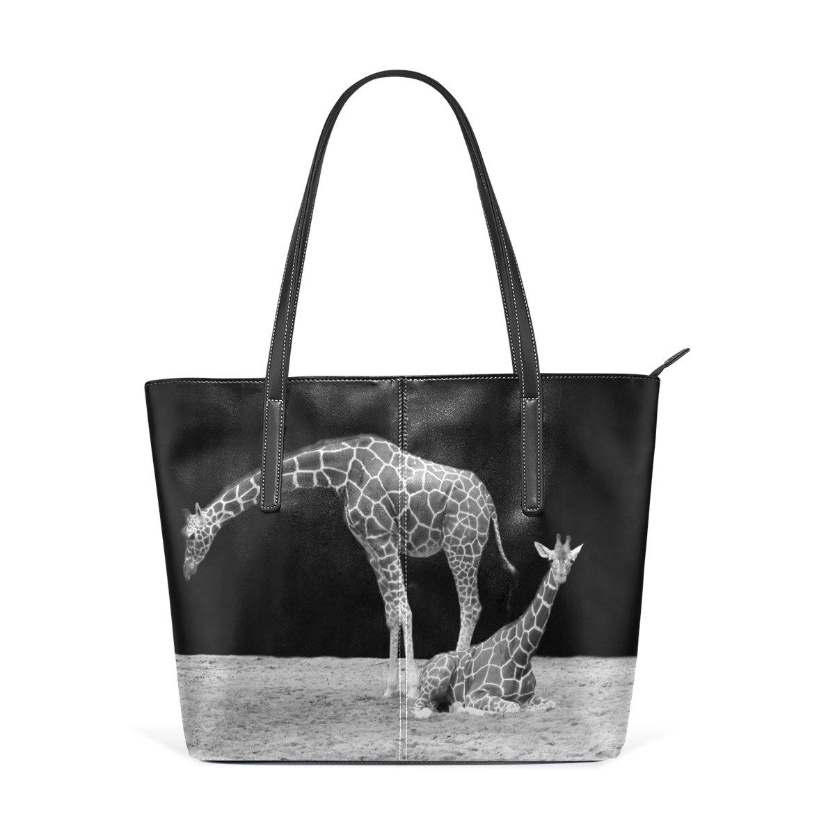 2c46ade7aab DEYYA Women s Vintage Giraffe Animal PU Leather Tote Shoulder Bag Handbag  g860492p103c117s150