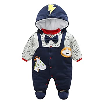 9c9f39eb3 Newborn Baby Footed Rompers Overall Toddler Girls Boys Animal ...