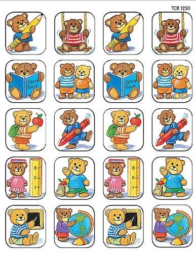 Teacher Created Resources School Bears Stickers, Multi Color (1250)