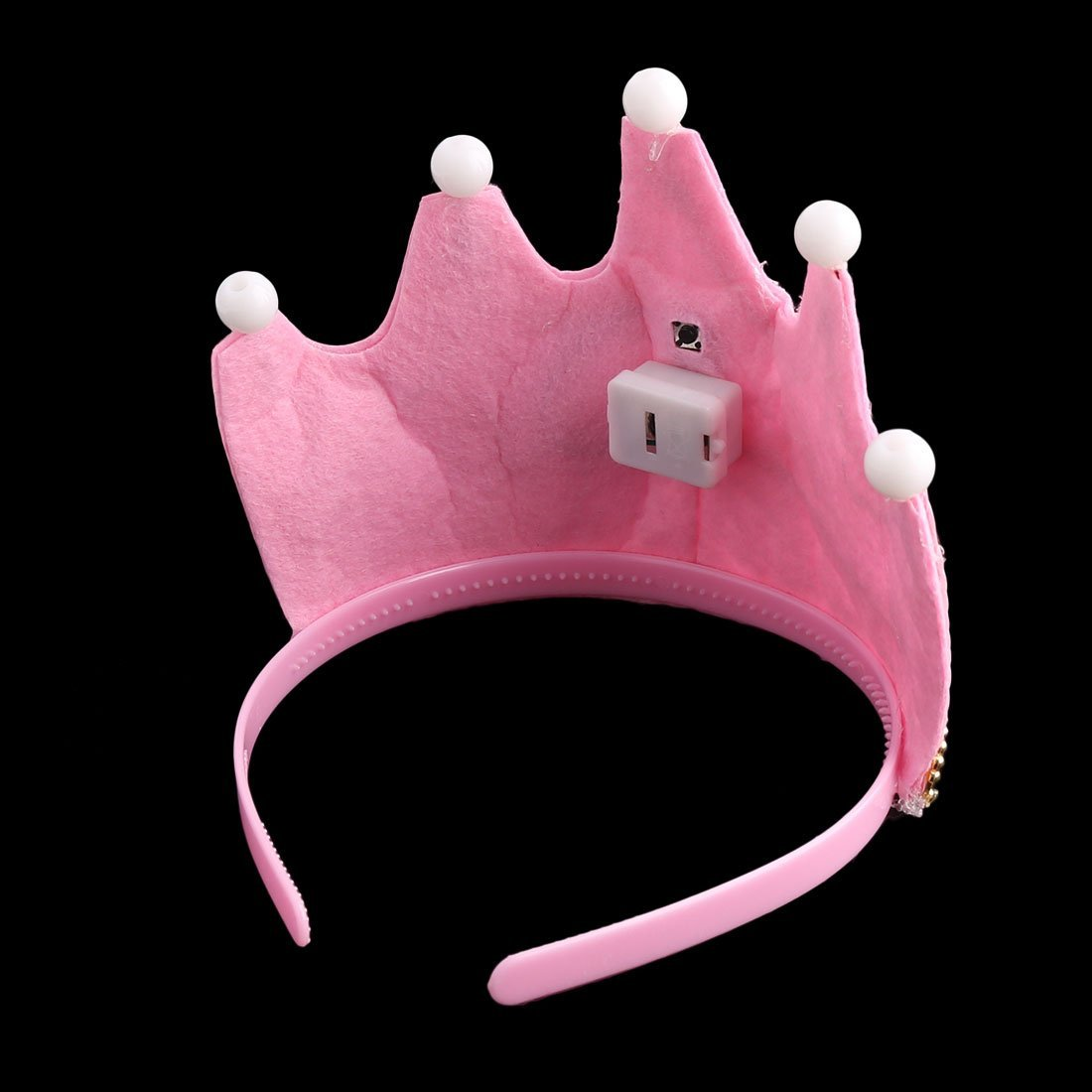 Amazon.com: eDealMax La Fiesta de cumpleaños Eventos Forma de Corona Princesa Carta de Bolas casquillo de la luz LED 2 PCS rosa: Home & Kitchen
