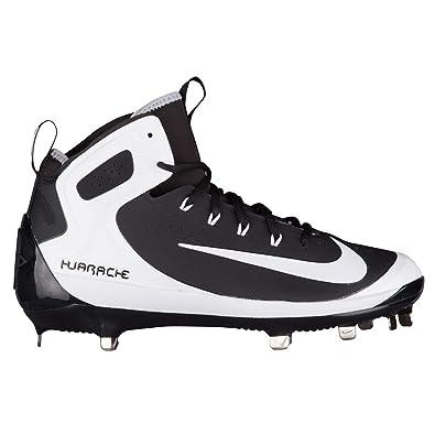 35045473f755 Nike Men s Alpha Huarache Elite Baseball Cleat Black White Wolf Grey Size  9.5 M
