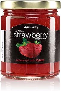 Xyloburst Sugar Free Strawberry Xylitol Jam Keto Friendly & Gluten Free, Non - GMO 10 Ounce Glass Jar - Made in the USA