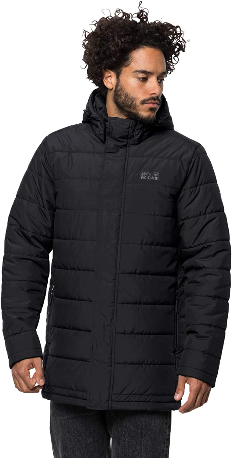 Jack Wolfskin Men's Svalbard Quilted Insulated Windproof Coat