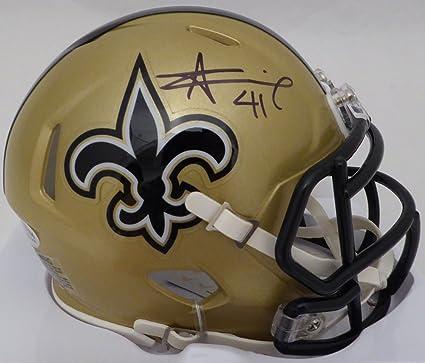 2451d2afba5 Amazon.com  Alvin Kamara Autographed New Orleans Saints Mini Helmet ...