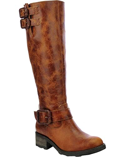 Women's Circle G Tall Engineer Cowgirl Boot Round Toe - P5118