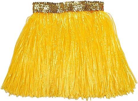 40cm niños falda de hierba hawaiana espesar doble capa hierba ...