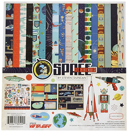 Carta Bella Paper Company CBSA61016 Space Academy Collection Kit by Carta Bella Paper