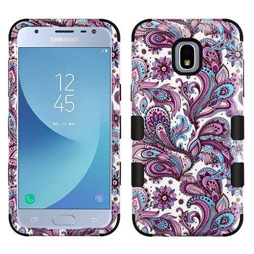 Protector Paisley Case - Wydan Compatible Case for Samsung Galaxy J3 2018, J3 V 3rd Gen J3V, Orbit, Express Prime 3, J337, Star, Achieve, Aura, Amp Prime 3 - Tuff Hybrid Shockproof Protective Phone Cover Paisley