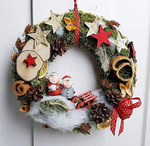 Türkranz Weihnachten.Türkranz Weihnachten Winterkinder Weihnachtskranz Amazon De Handmade