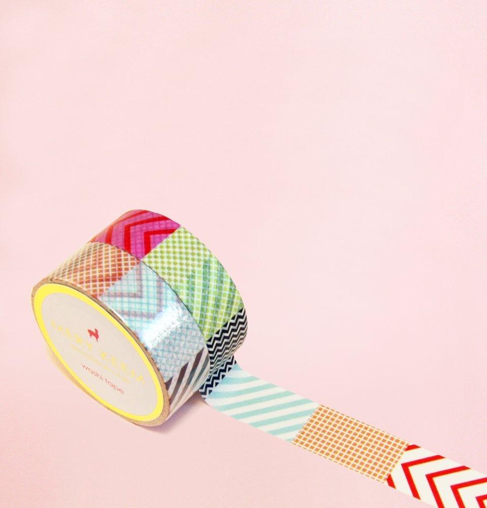 Bunte Flecken Washi Tape for Planning • Planer und Organizer • Scrapbooking • Deko • Office • Party Supplies • Gift Wrapping • Colorful Decorative • Masking Tapes • DIY (15mm breit - 10 Meter)