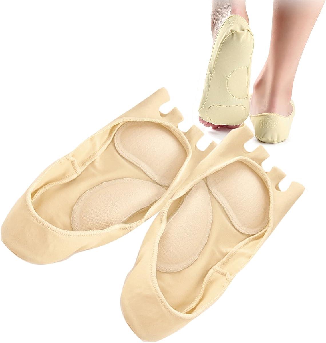 Separator Yoga Socks Acrh Care Front Foot Pad Socks Meomory foam Five Toe