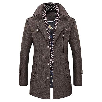 Pour Trench Conqueror Style Hommes En Laine Coat Décontractée dPSXSqw