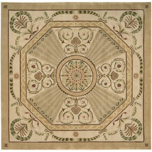Nourison Versailles Palace (VP03) Blush Square Area Rug, 8-Feet by 8-Feet  (8' x 8')