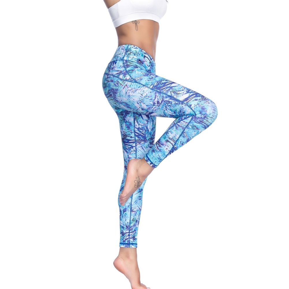 fe73b5d466575 【Stylish and Comfort】Our yoga capri designed by novelty pattern, show more  confidence and elegance when you're in these pants!