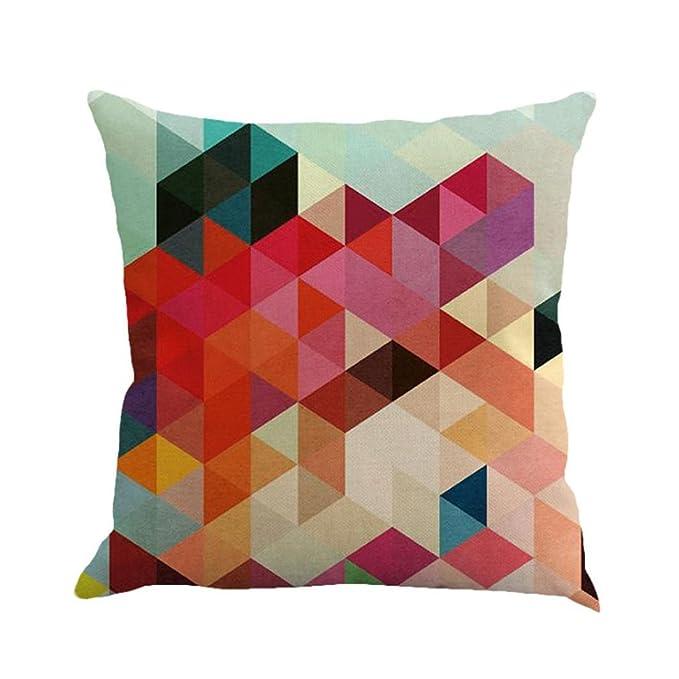Geometria Pittura Lino Cuscino Rawdah Coperta Divano Divano Soffitto  Decorazione Domestica (Multicolore(A)): Amazon.it: Abbigliamento