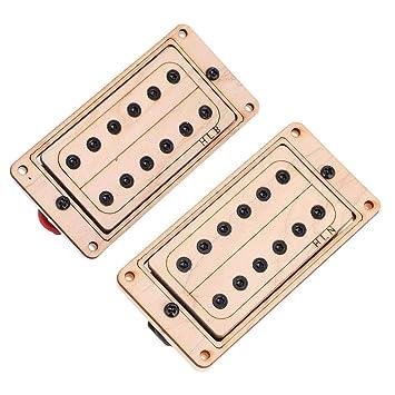 Dilwe Guitarra Humbucker Pickup, Madera de Arce Imán Cuello Puente Pastilla Humbucker Set para LP SG Jazz Guitarra Accesorio Piezas(Negro): Amazon.es: ...