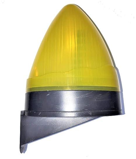 VDS Lampara destellante led luz de intermitencia para puertas de garaje automaticas y parking, señalizacion maniobra puerta, luz aviso intermitencia ...