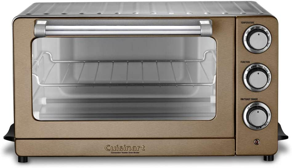 "Cuisinart TOB-60N1CS Convection Toaster Oven Broiler, 19.1""(L) x 15.5""(W) x 9.8""(H), Copper Stainless Steel"