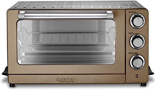 Amazon Com Cuisinart Tob 60n1cs Convection Toaster Oven Broiler 19 1 L X 15 5 W X 9 8 H Copper Stainless Steel Kitchen Dining