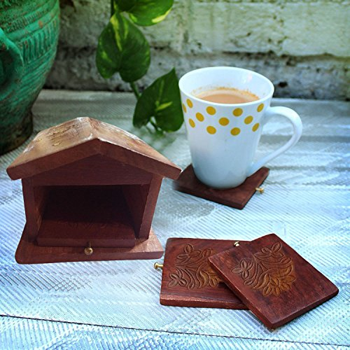 Special Gifts at Good Friday.Wooden Coaster Set with 6 Round Table Coasters glass Table Coasters, on The Table Coasters, Dining Table Coasters, Table Coasters for Drinks (Wood Rounds For Sale)
