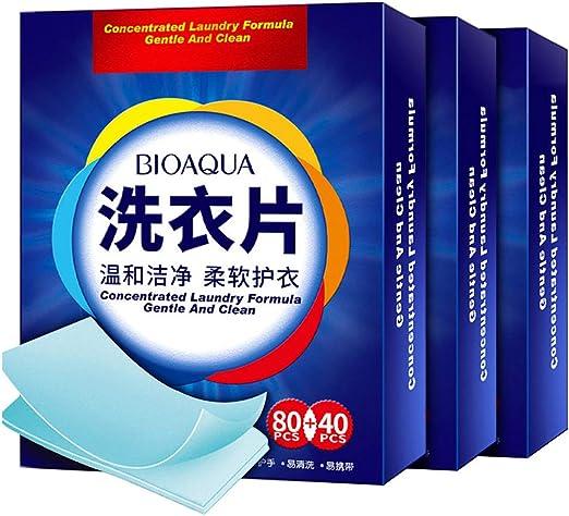 Tabletas biodegradables de lavandería,4 en 1 Super concentrado no ...
