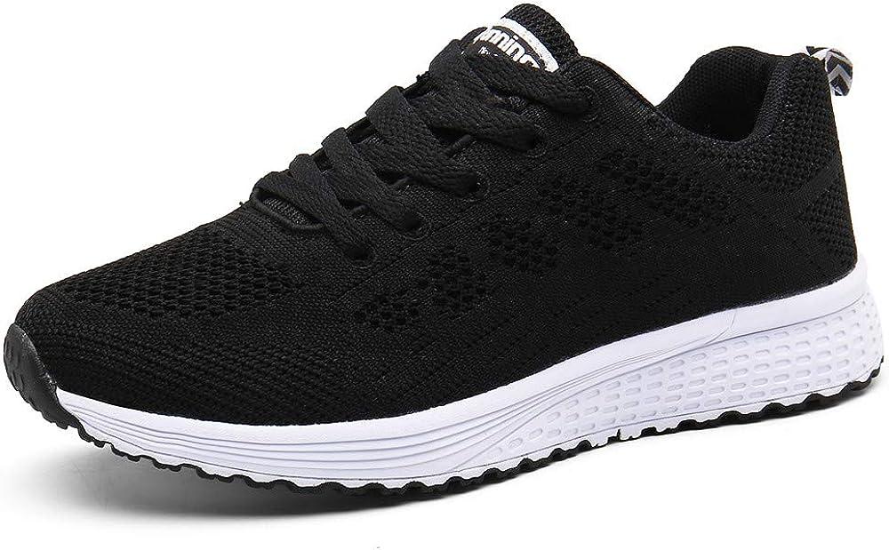 Zapatillas de Deportivos de Running para Mujer Gimnasia Ligero Sneakers Negro Azul Gris Blanco Verde 35-44
