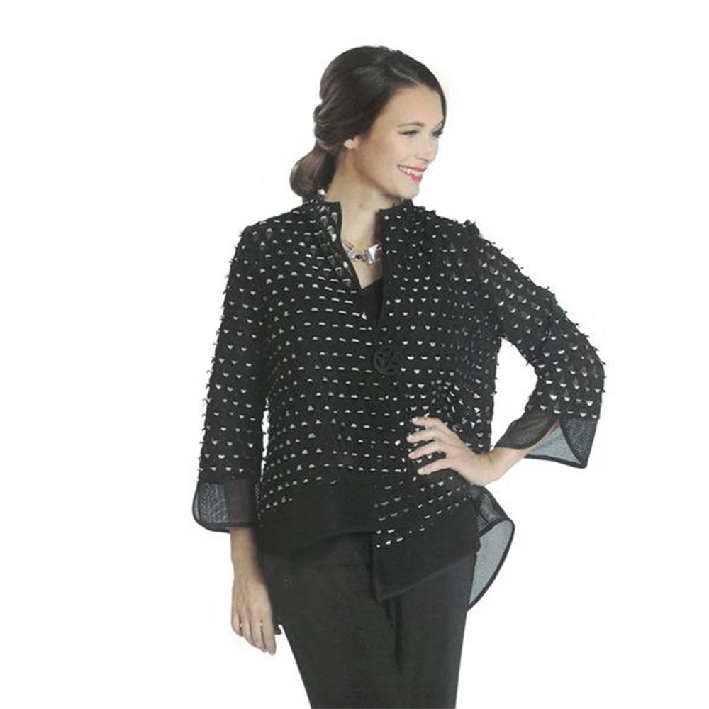 IC Collection Mesh Laser Cut Out Asymmetric Jacket - 1130J (XXL)