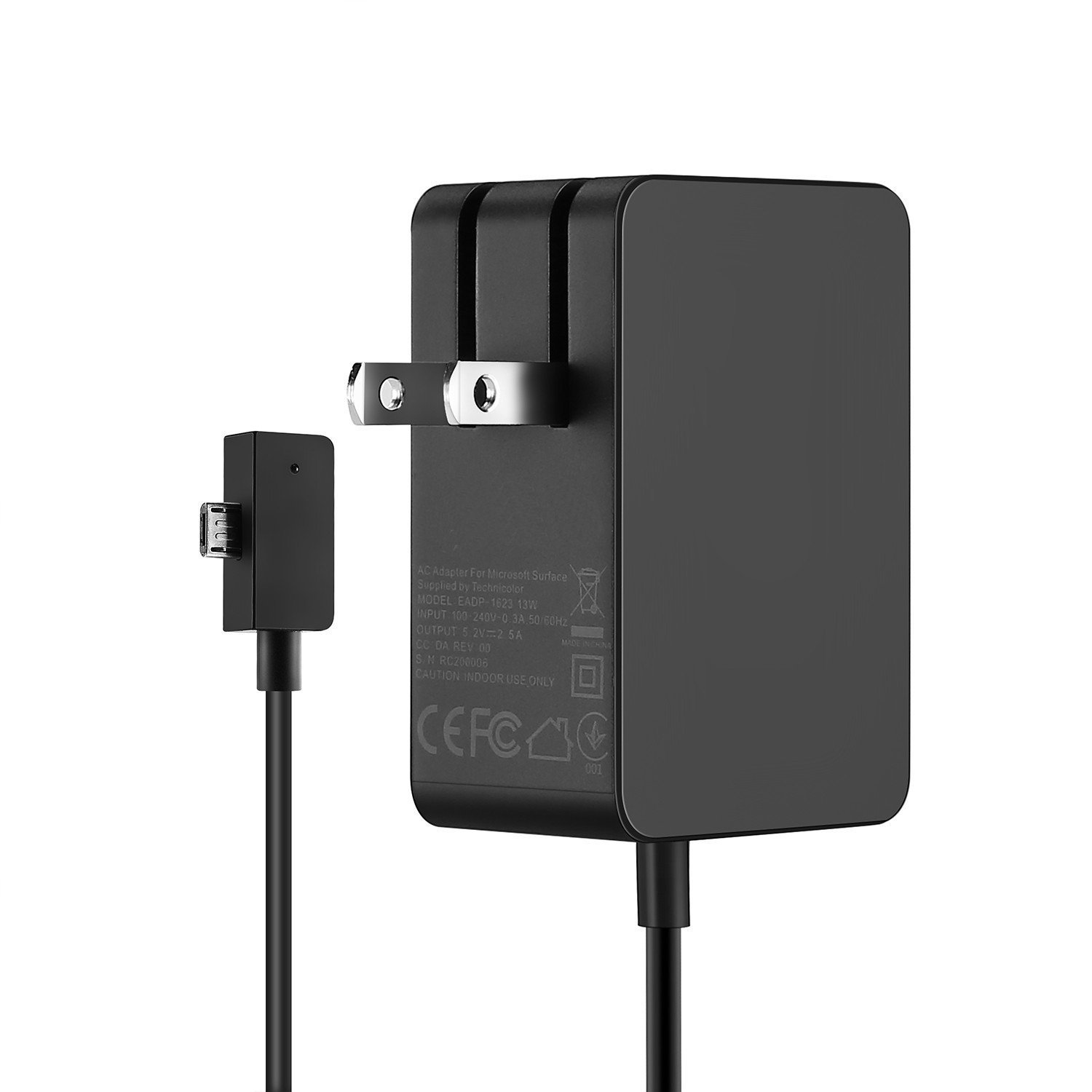 Surface 3 Charger 13W 5.2V 2.5A AC Power Adapter Charger Cord Microsoft Surface 3 Model 1623 1624 1645 Tablet USB Charging Port 4.9Ft Cable-1.5m TG-Tech