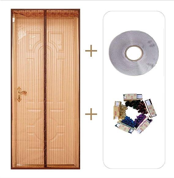 ACDRX Puerta mosquitera magnética para Puerta corredera de Cristal, Malla antimosquitos de Malla de poliéster con Sello de Marco Completo: Amazon.es: Hogar