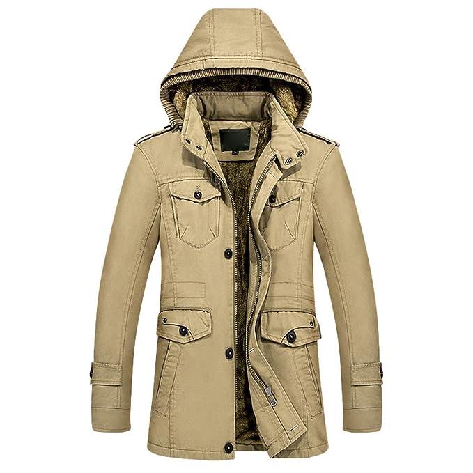 Sylar Chaquetas para Hombre Invierno Moda Desmontable con ...