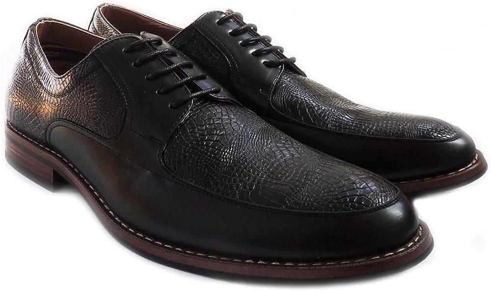 NEWFERRO ALDO Mens LACE UP Oxfords Classic Leather Lined Dress Shoes 19519L Black