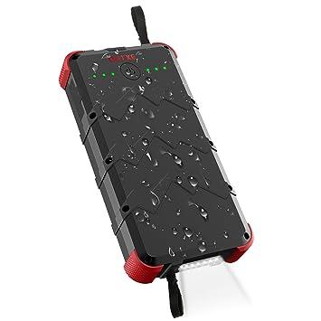 Outexe - Batería Externa portátil de 20000 mAh, Resistente ...
