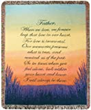 Manual Inspirational Collection Tapestry Throw, Forever a Father, 50 X 60-Inch