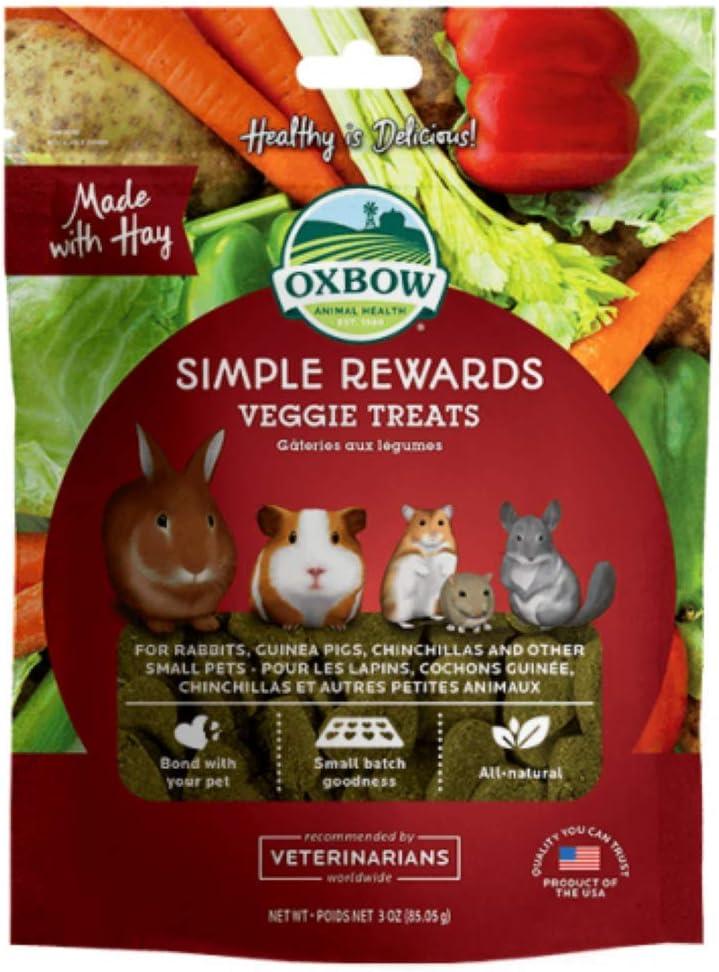 Oxbow Simple Rewards Veggie Treats, 3 Ounces (Pack of 2)