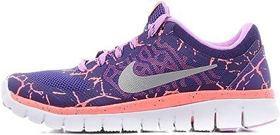 Nike Flex 2015 RN Lava (GS), Zapatillas de Running para Niñas, Morado/Plateado/Rosa (CRT Purple/Mtllc Slvr-FCHS GLW), 37 1/2 EU: Amazon.es: Zapatos y complementos