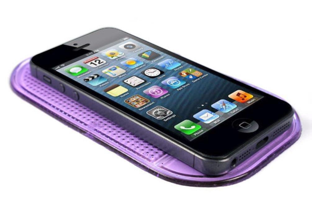 SANNYSIS Premium Cell Pads Car Magic Anti-Slip Dashboard Sticky Pad Non-Slip Mat Holder for GPS Cell Phone Purple by Sannysis (Image #1)