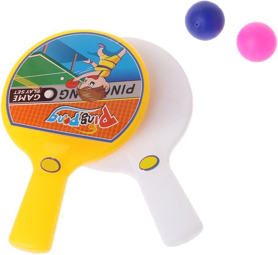 chenpaif Mini Raqueta de Tenis de Mesa portátil con 2 Raquetas de Tenis de Mesa Bolas niños Juguetes para niños