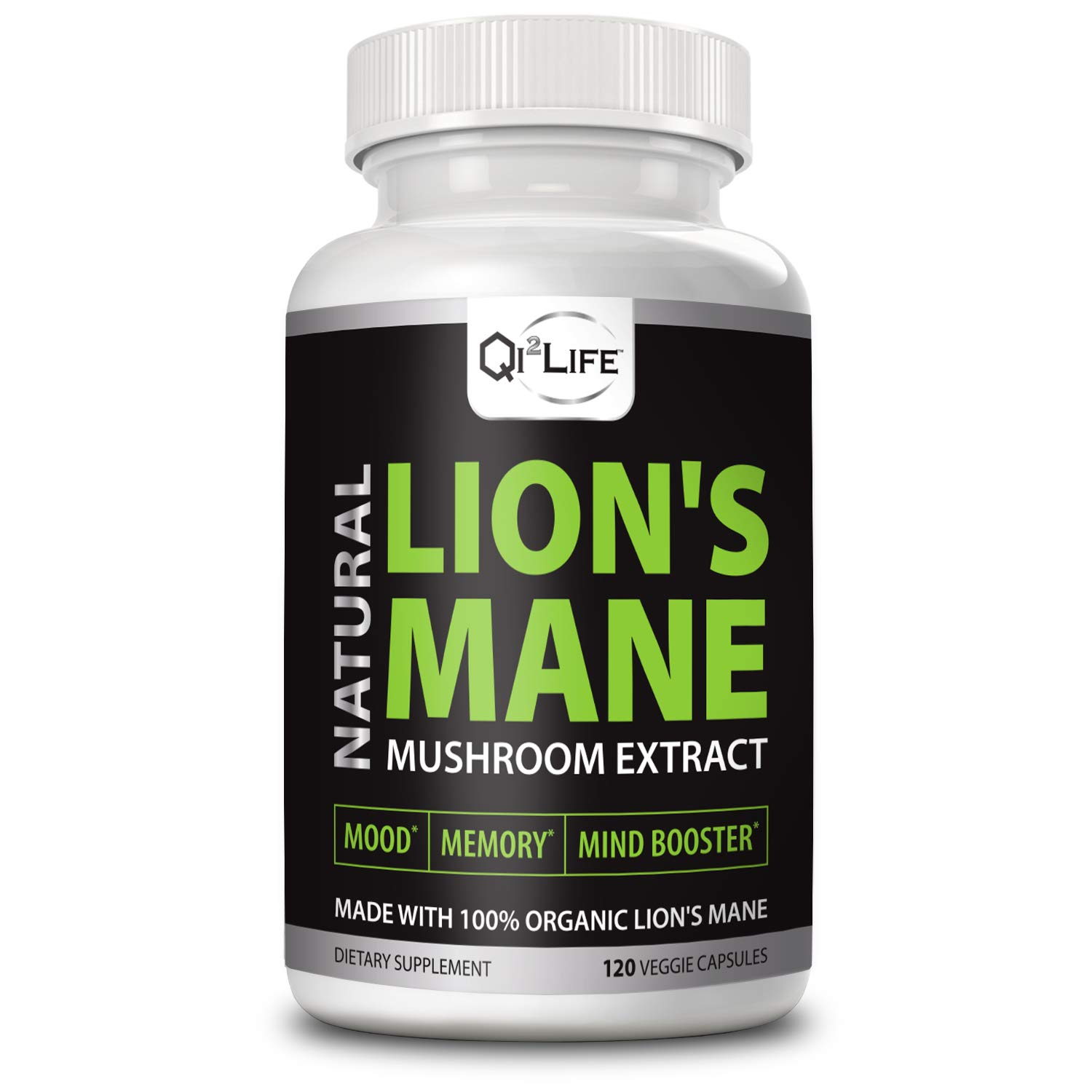 Organic Lion s Mane Mushroom Extract Daily Supplement – Cognitive Function, Mood, Memory and Wellness – Made from Fruiting Bodies, No Fillers – 120 Veg. Capsules