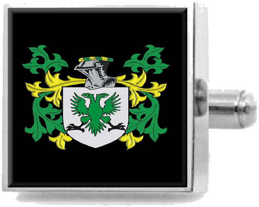 Select Gifts Bennison England Heraldry Crest Sterling Silver Cufflinks Engraved Box