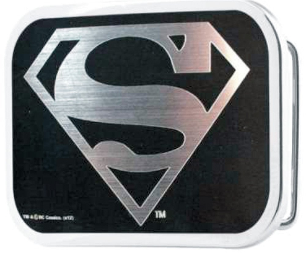 Superman DC Comics Superhero Silver Shield Logo Rockstar Belt Buckle Buckle Down