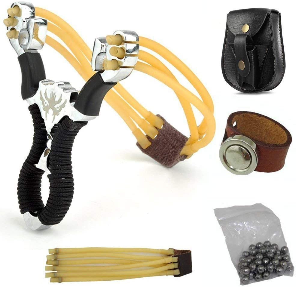 Details about  /2x Wood Slingshot Catapult Hunting Camping for Beginner Training outdoor new