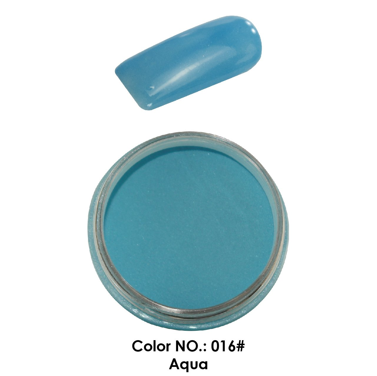 C & I Dipping Powder Color No.016 Aqua Blue Color System Fulei Trading