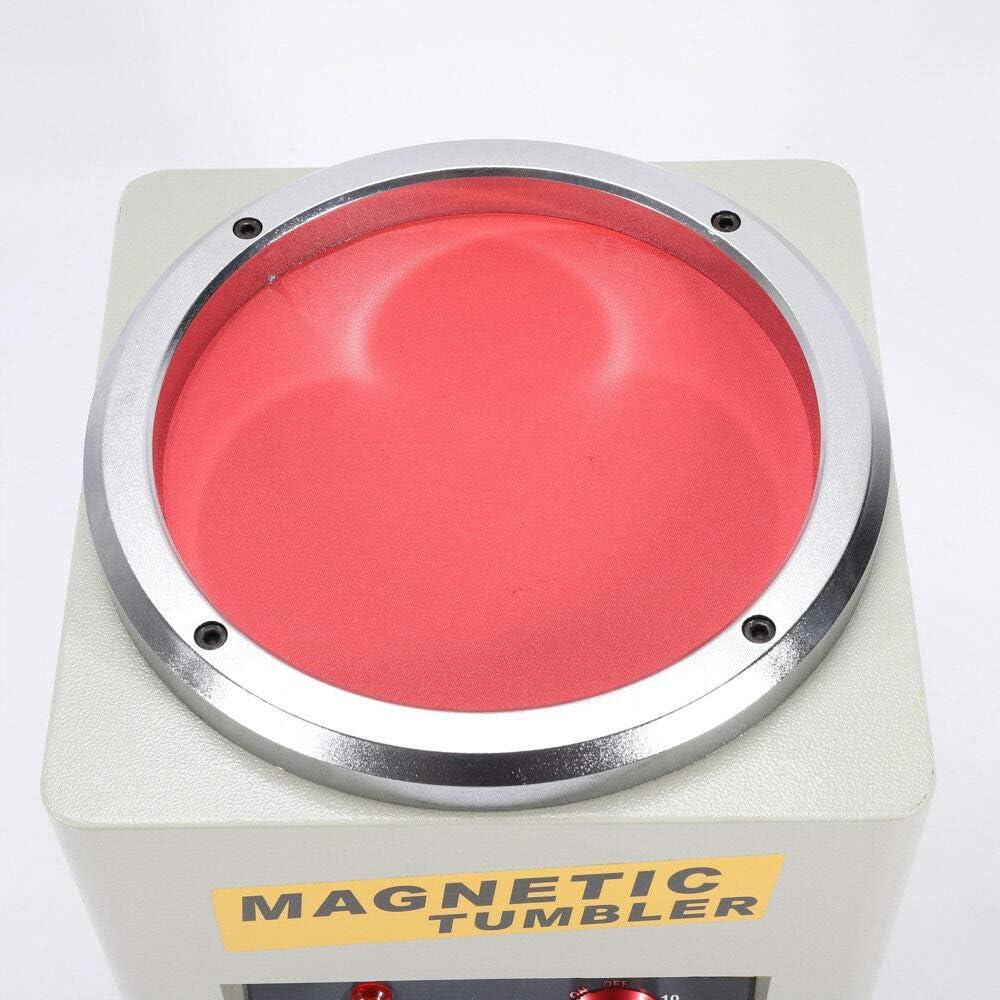 Jewelry Polisher 180MM High Speed Polishing Magnetic Tumbler Jewelry Polisher Finisher 2000rpm