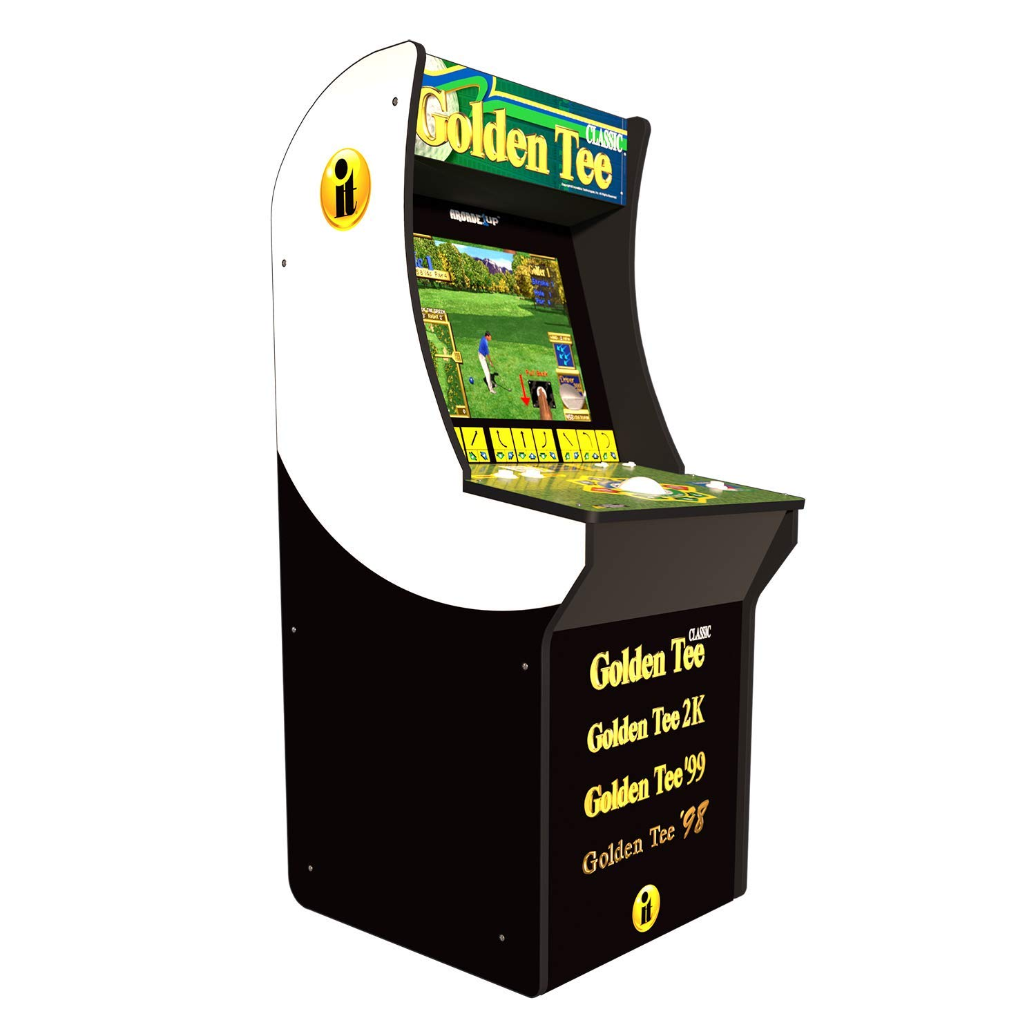 Amazon Com Arcade 1up Golden Tee Classic Arcade With Riser 5ft Video Games