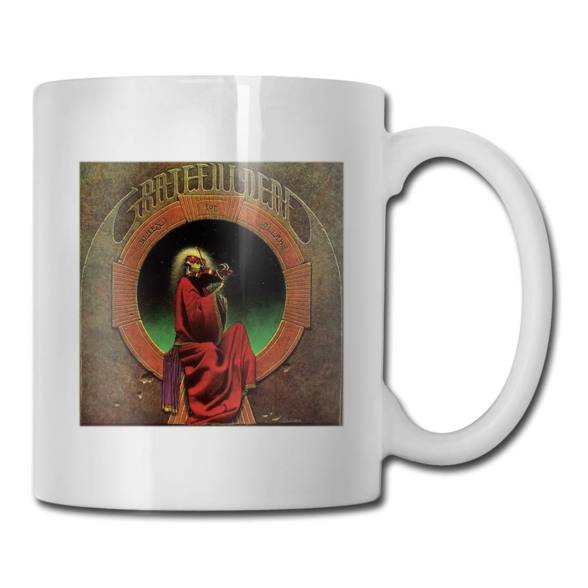 Office Coffee Cup GratefulDealblueeesforAllah Geblackus 14.72 OZ Capacity Mug is Perfect for CoffeeWhite