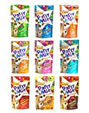 Friskies Party Mix Crunch Variety Pack (9 Flavors) - Wild West, Morning Munch, Mixed Grill, Picnic, Beachside, Cheezy Craze, Original, California Dreamin', and Meow Luau